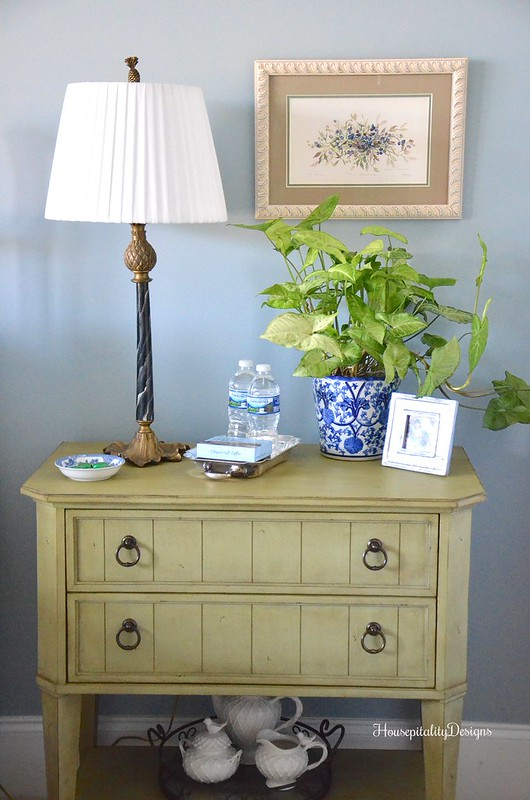Guest Room side table - Housepitality Designs