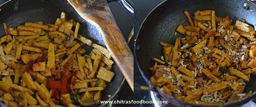 Yam fry - Senai kizhangu poriyal recipe