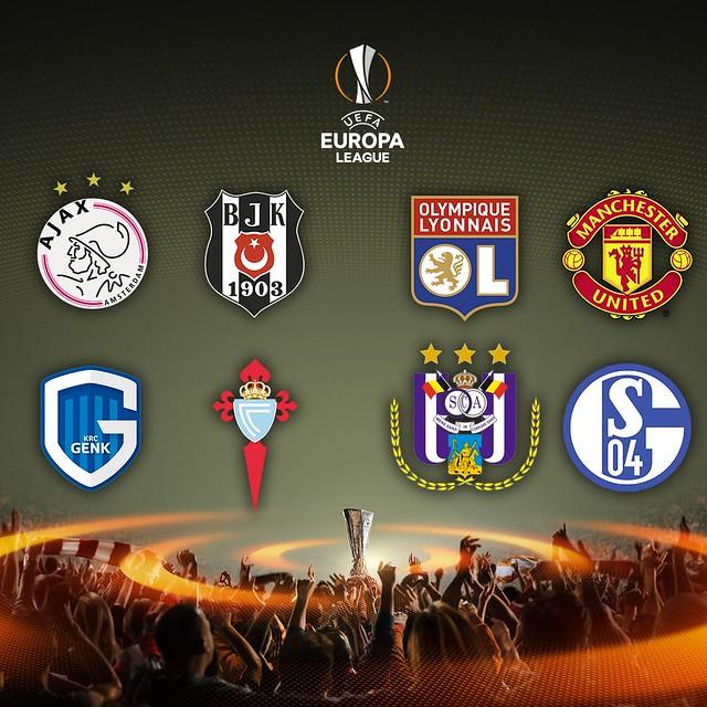 Los 8 equipos que pasan a Cuartos de Final de la Europa League