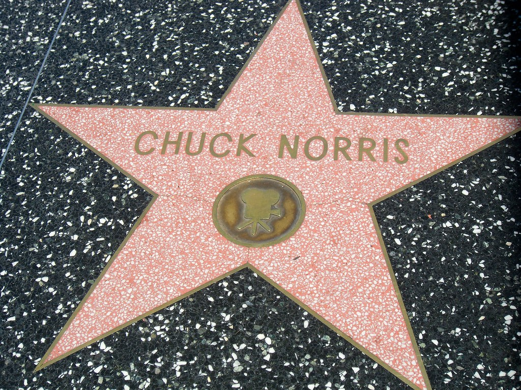 Chuck Norris' star on Hollywood Blvd
