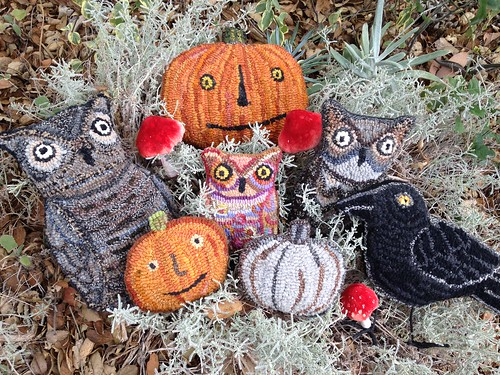 Rug hooked creations for Fall Workshop in Carpinteria | by art spirit