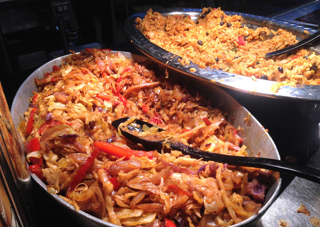 Vegan food at cornell stir fried cabbage with red for Anthropology of food and cuisine cornell