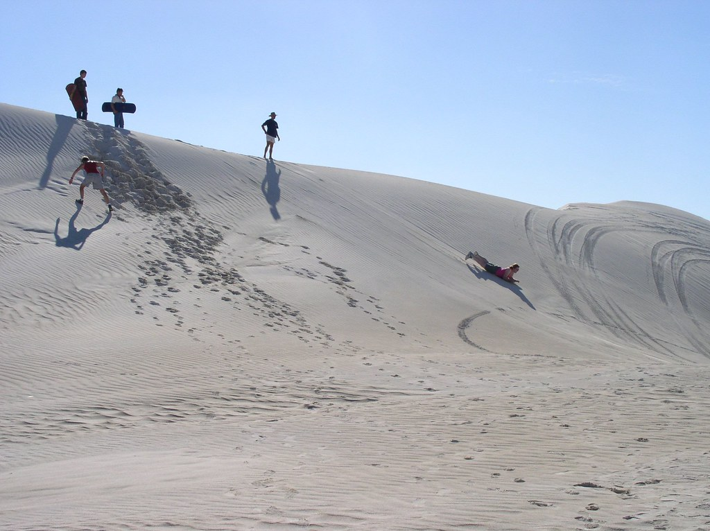Lancelin. Sand dunes in Western Australia near the Pinnacles National Park. .