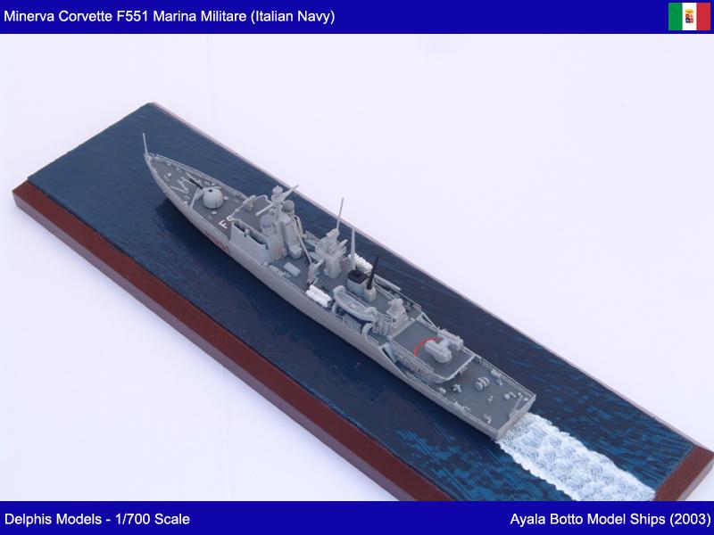 Corvette Minerva F551 Marina Militare - Delphis Models 1/700 21765288705_841441b859_c