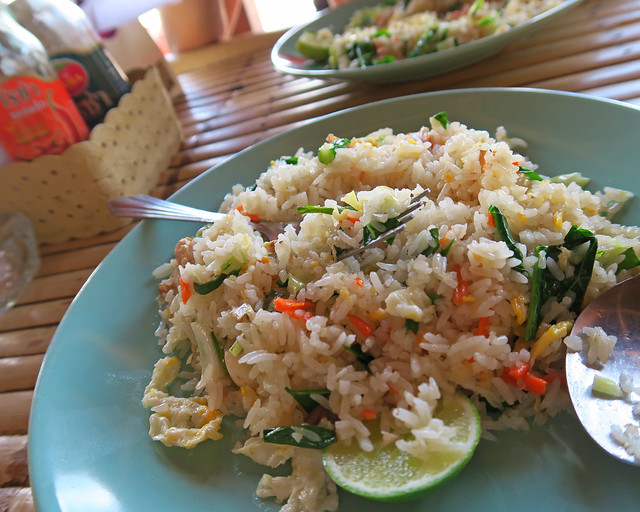 Arroz con marisco que comimos en las playas de Railay