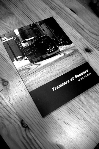 my photobook  (pics of Tramcars at Sapporo) on JAN 13, 2017