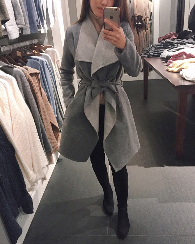 abercrombie wool wrap jacket drape coat