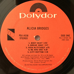 ALICIA BRIDGES:ALICIA BRIDGES(LABEL SIDE-A)