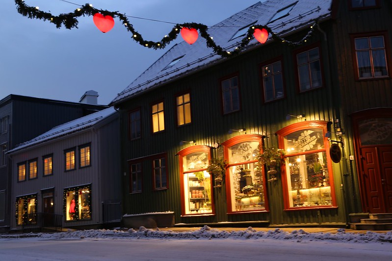 Tromso, Norway winter Christmas decorations