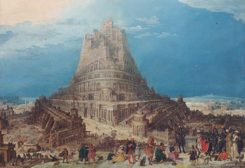 フランドル派の画家《バベルの塔》(制作年不詳、プラハ国立美術館蔵)