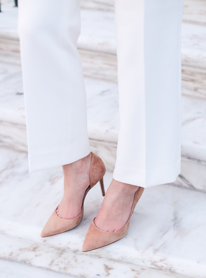 ann taylor suede tan office work pumps