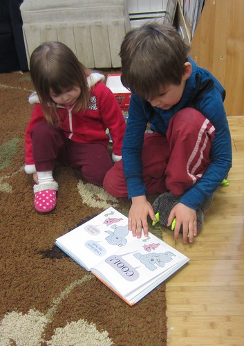 reading a book about friendship to a friend