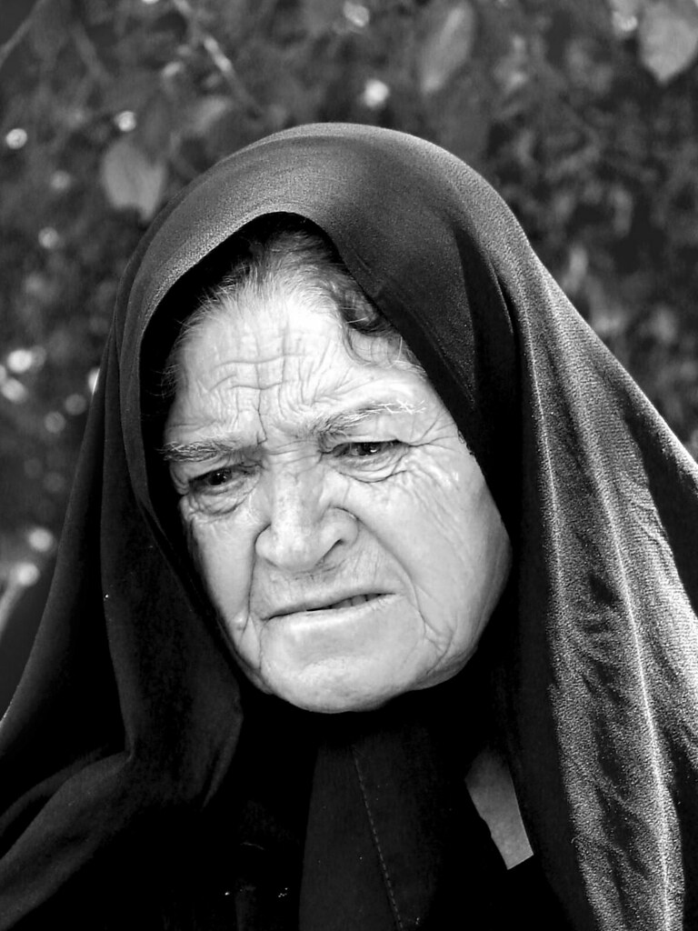 Sad Old Woman  I Dont Know Her, Even Dont Know Wht She -4739