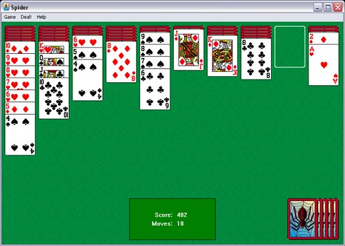 Spider Solitaire in Progress | Jonathan Lin | Flickr