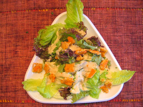 casear_salad with carrot_croutons | by tofu666