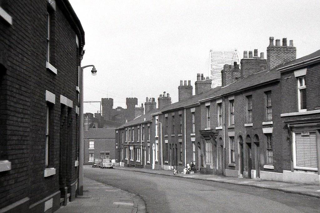Runcorn, Cheshire, 1969. | A street in Runcorn, on the ...