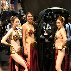 2459_Three Leia Slaves and a Vader.jpg | by Kevin Baird