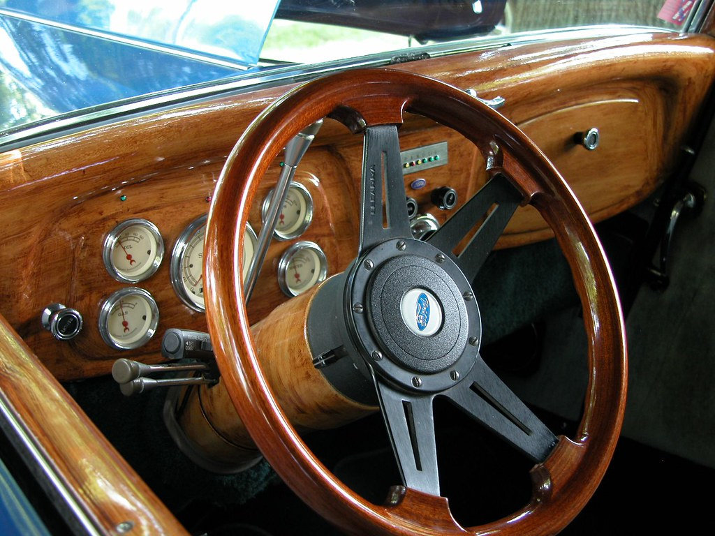 Ford Street Rod Interior At Canal Days Car Show In Port Co Flickr