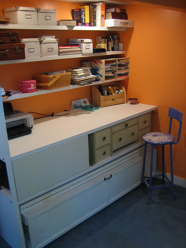 Desk and Storage From Old Doors | by Earthworm