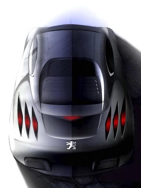 2006 Peugeot 908 Rc Concept Study Rear Top 1280x960 Flickr