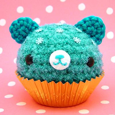 Amigurumi Cute Cupcake : Amigurumi Blue Cupcake bear www.amigurumikingdom.etsy ...
