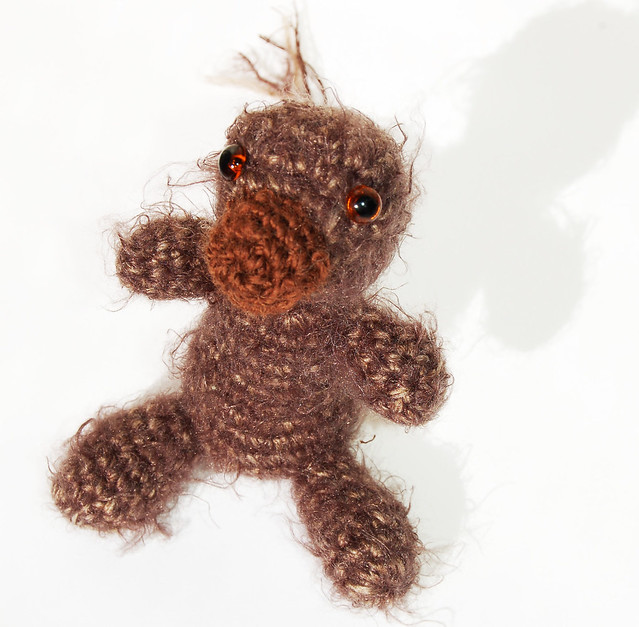 Mullis the little mole, free hand amigurumi softies by iHanna