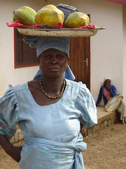 Lady selling -papayas, N'Gaoundere | by Elin B