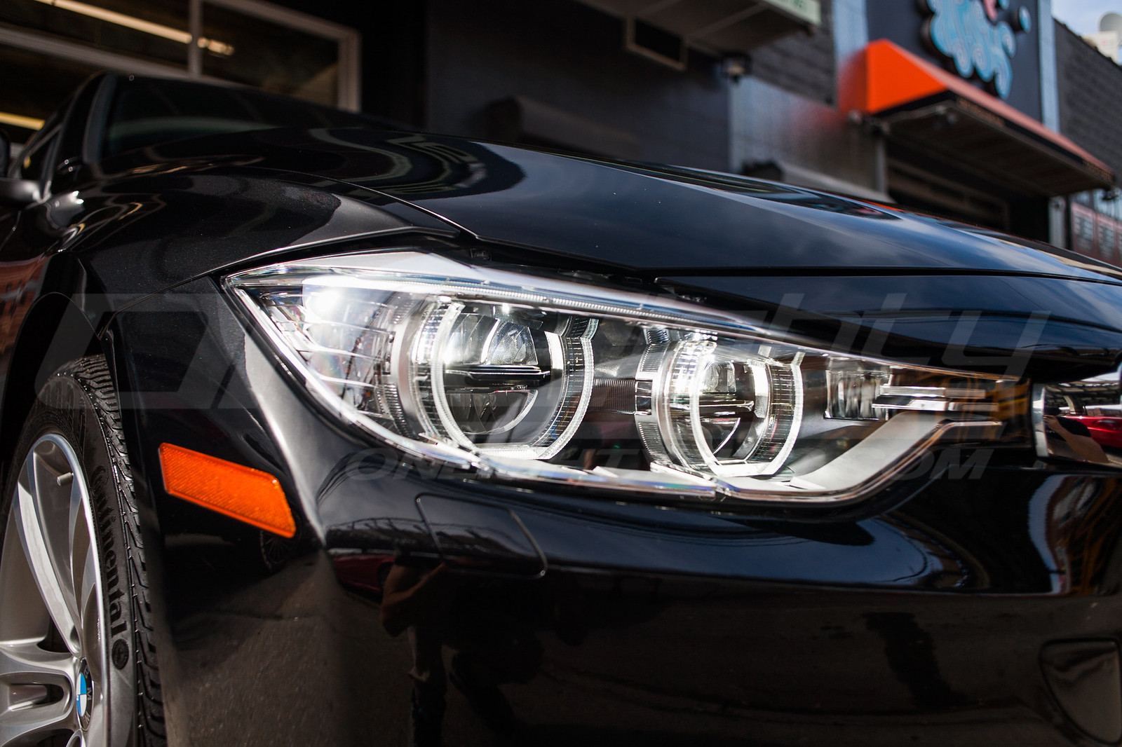 as first with bmw enters laser the lights production news is h headlights