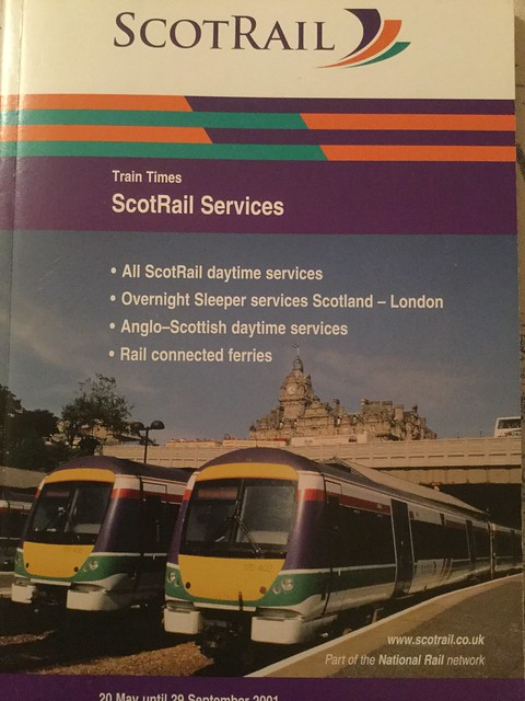 Front Cover Of Scotrail All Services Timetable Summer 200