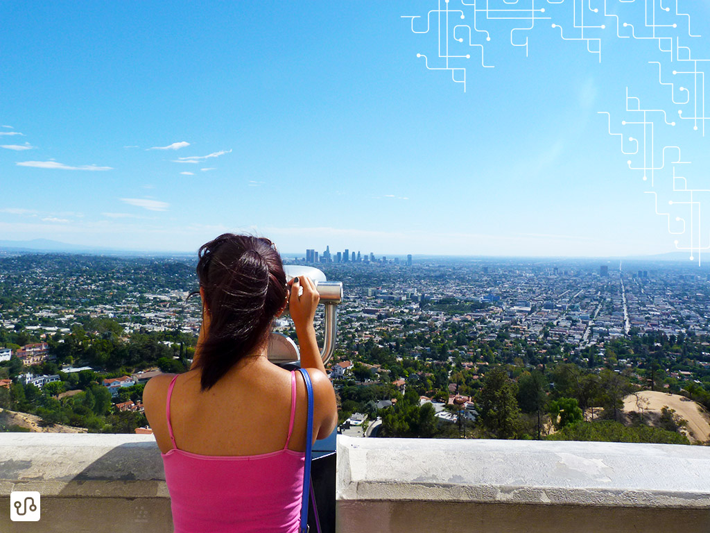 Cidade de Los Angeles vista do Griffith Observatory <3