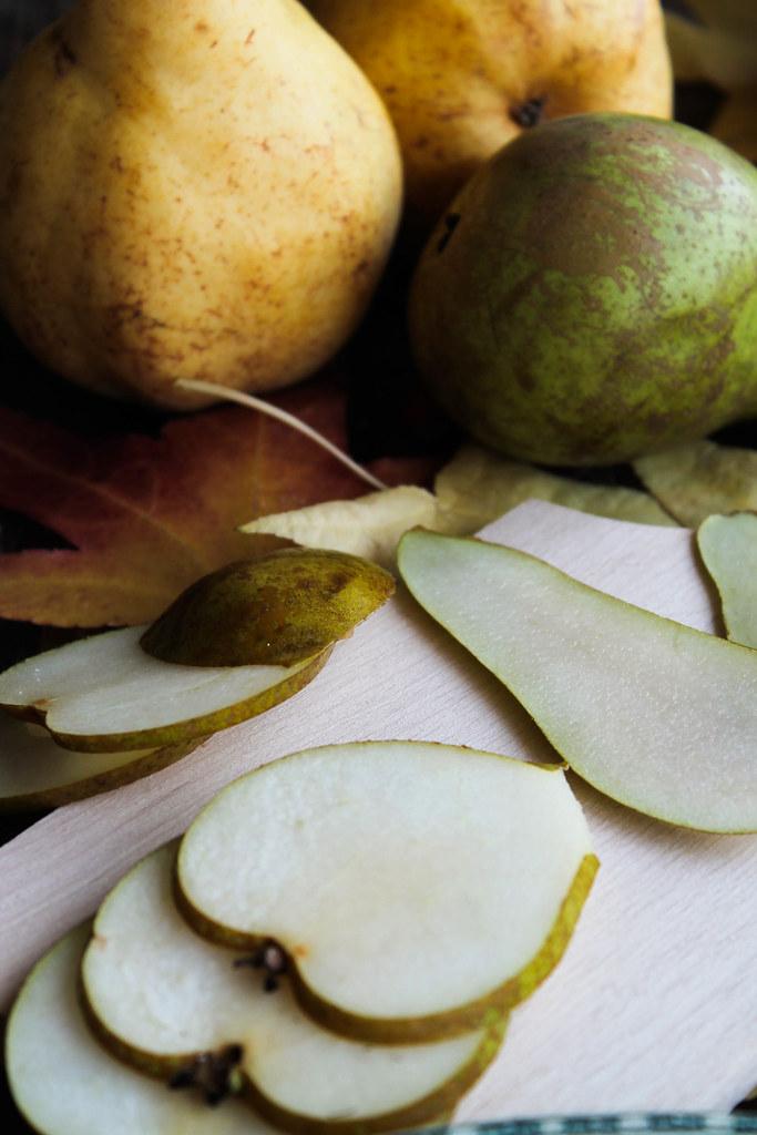 Tartine roquefort poire