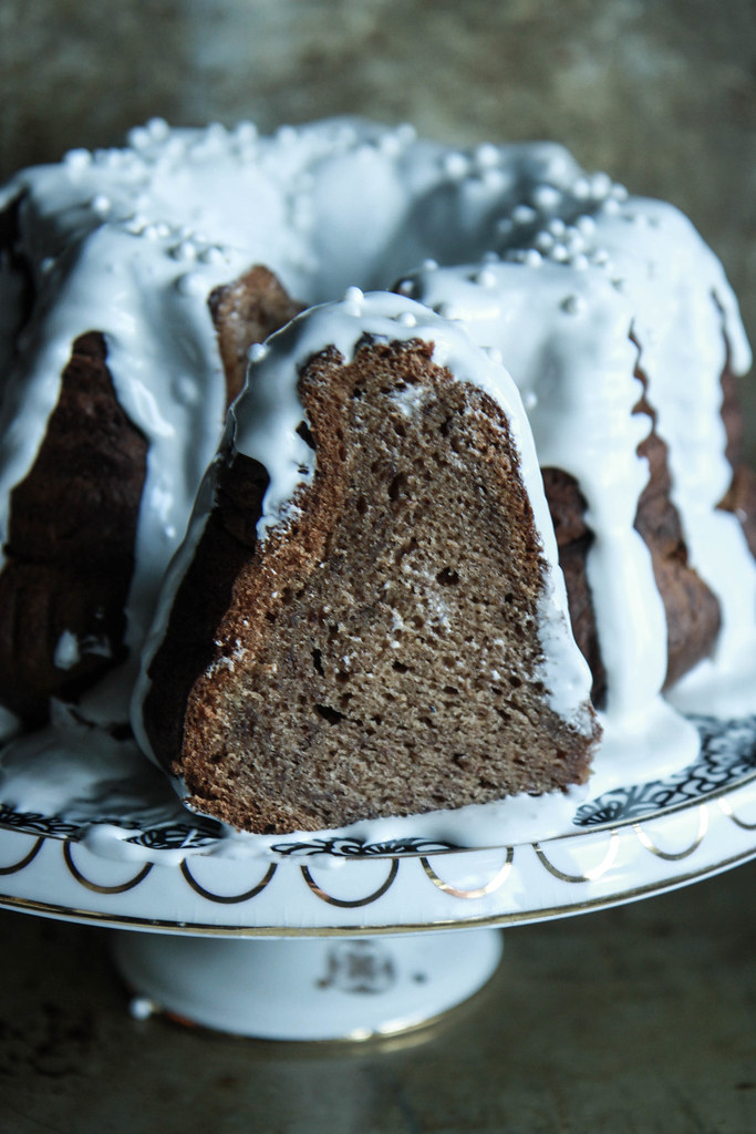 Spiced Banana Rum Cake- gluten free and vegan