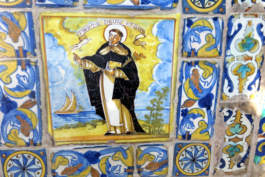 Mosaicos en el jardín de Sorolla: san Vicente Ferrer