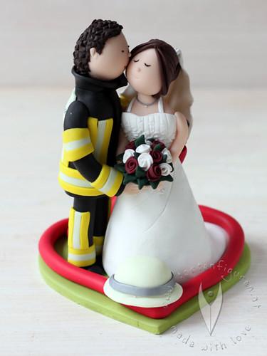 Feuerwehr Brautpaar Fur Die Hochzeitstorte Tortenfiguren F Flickr