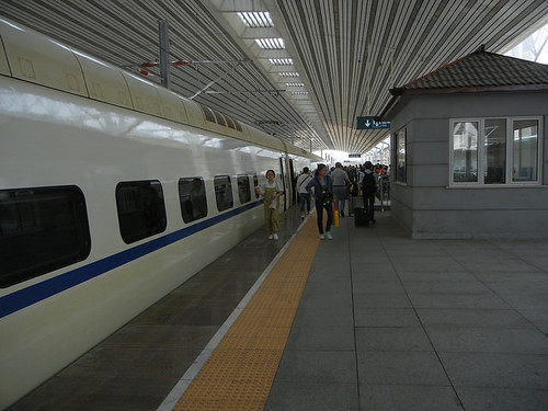 DSCN2528 - High Speed Train in Dandong, Liaoning, China