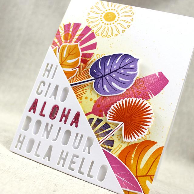 Aloha Card Leaves Close Up