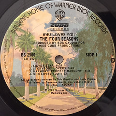 THE FOUR SEASONS:WHO LOVES YOU(LABEL SIDE-A)