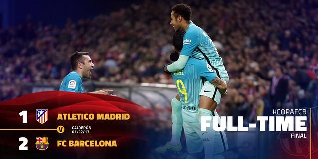 Copa del Rey - Semifinales (Ida): Atlético de Madrid 1 - FC Barcelona 2