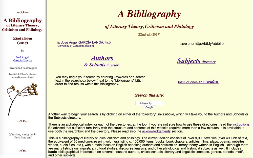 22nd Edition of my Bibliography