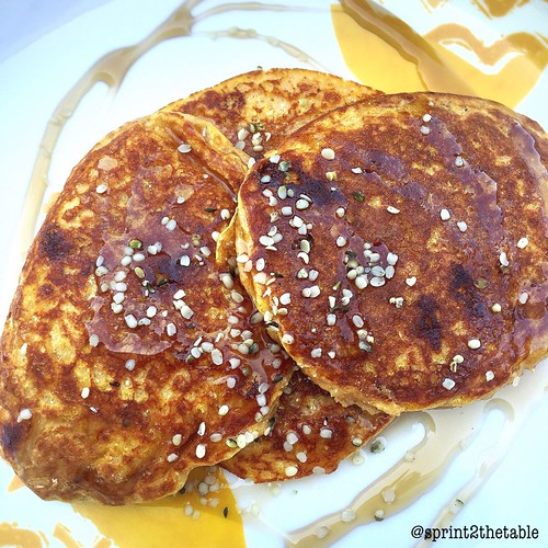 Pumpkin White Chocolate Protein Pancakes