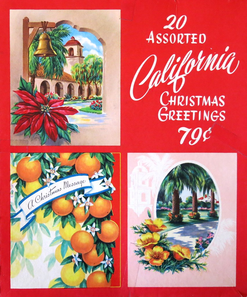vintage california christmas greeting cards 1950s flickr