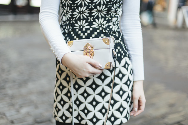 Topshop monochrome dress