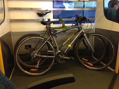 Bike on the train