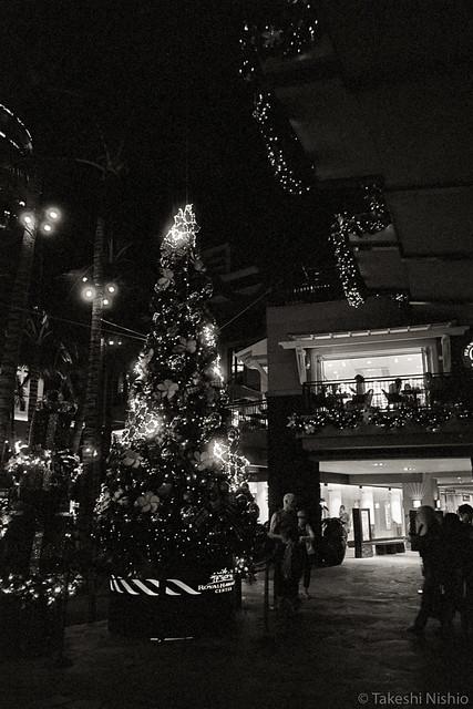 Christmas tree at Royal Hawaiian Center