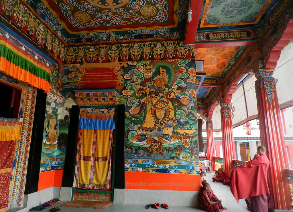 rumtek monastery, gangtok, tibetan art, murals, painting