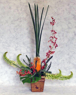 Tropical Flowers - Photo Courtesy Ardith Beveridge, AAF, AIFD, PFCI, CAFA,Koehler & Dramm's Institute of Floristry in Minneapolis, https://www.kdfloralinstitute.com/ | by Flower Factor