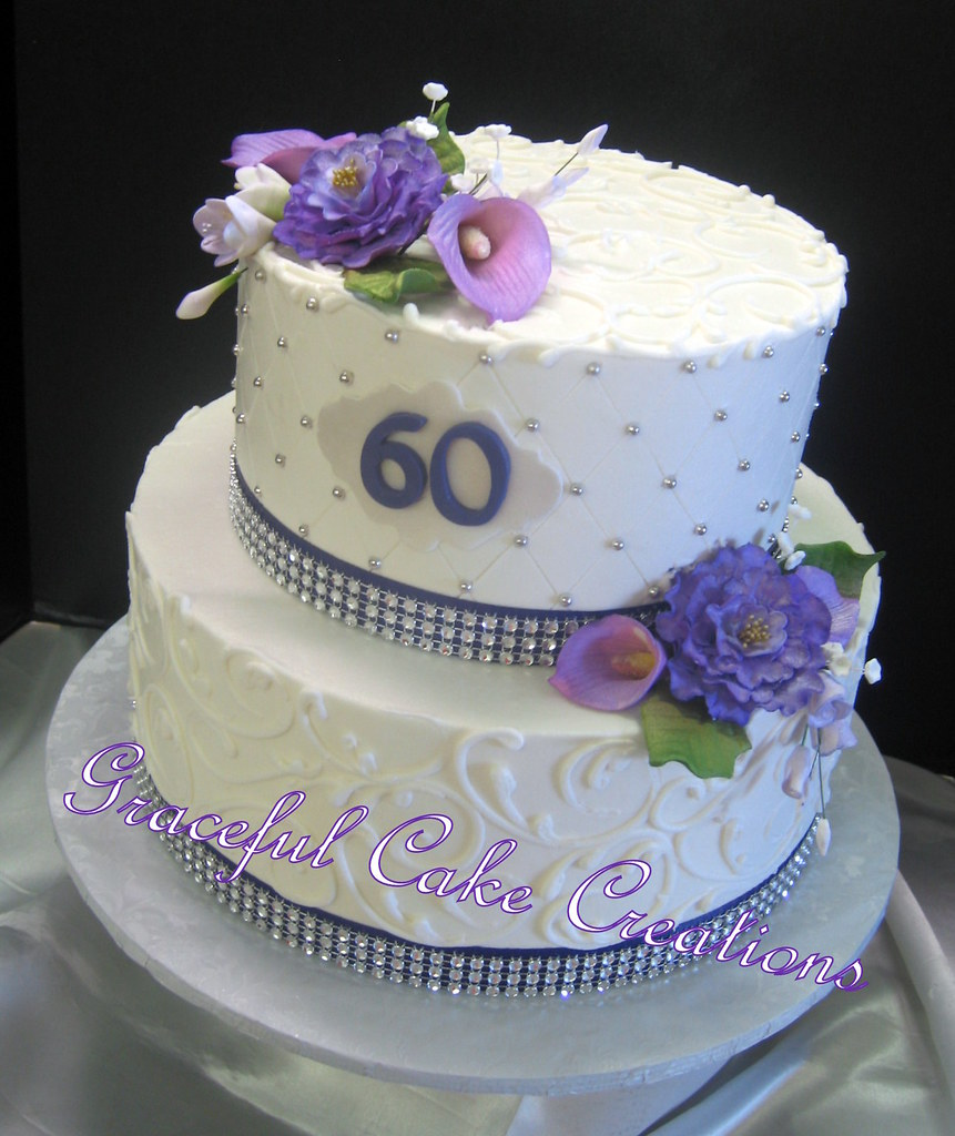 Cake Design 60th Birthday : Elegant 60th Birthday Cake Grace Tari Flickr