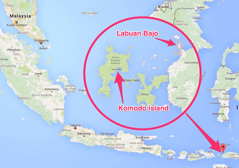 Komodo Islands Map