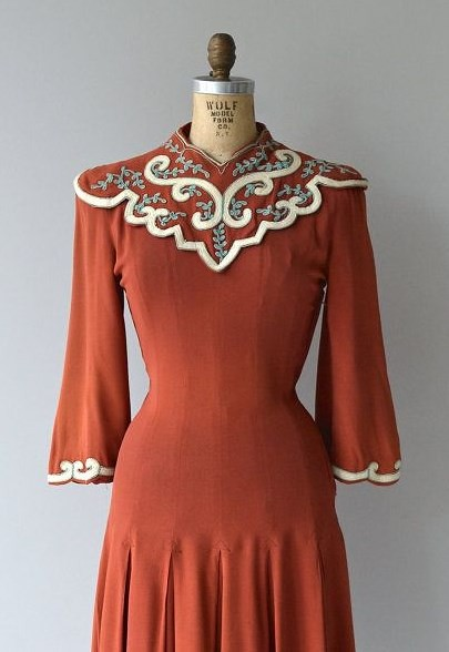 вискоза винтажное платье