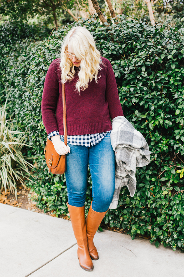 austin style blogger gingham winter outfit12